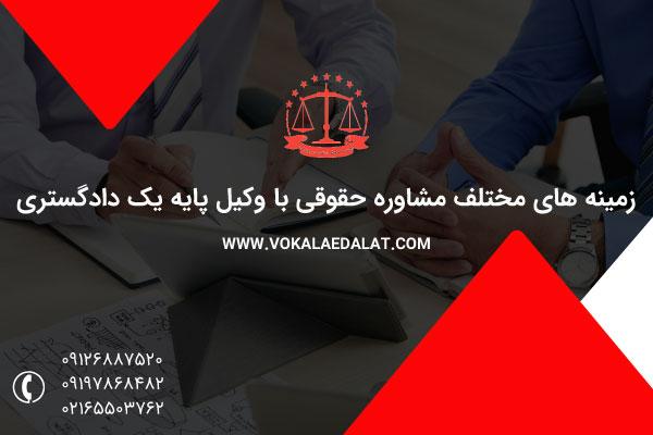 زمینه های مختلف مشاوره حقوقی تلفنی